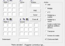Lissoft Matrix Calculator