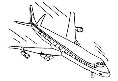 Avião para colorir