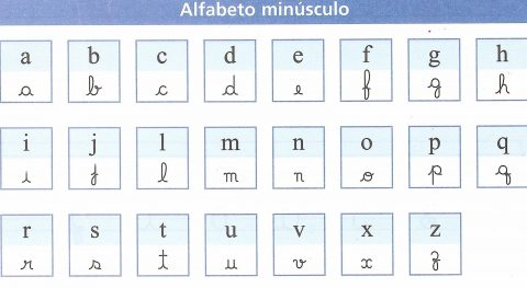 Actividades para aprender o alfabeto manuscrito 5