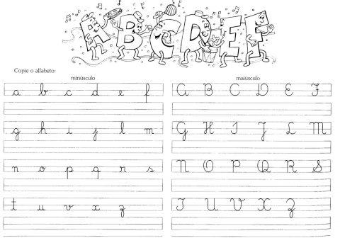 Actividades para aprender o alfabeto manuscrito 8