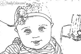Imagens de bebés para imprimir e colorir 10