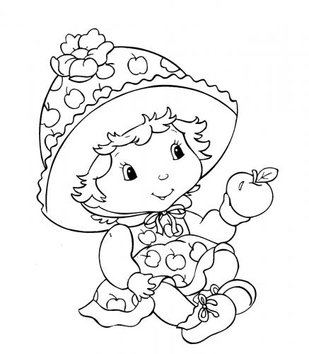 Imagens de bebés para imprimir e colorir 11