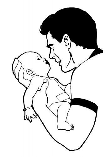 Imagens de bebés para imprimir e colorir 12