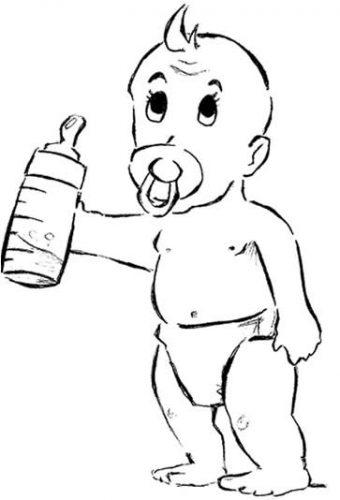 Imagens de bebés para imprimir e colorir 5