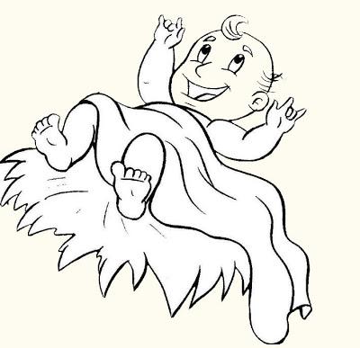 Imagens de bebés para imprimir e colorir 6