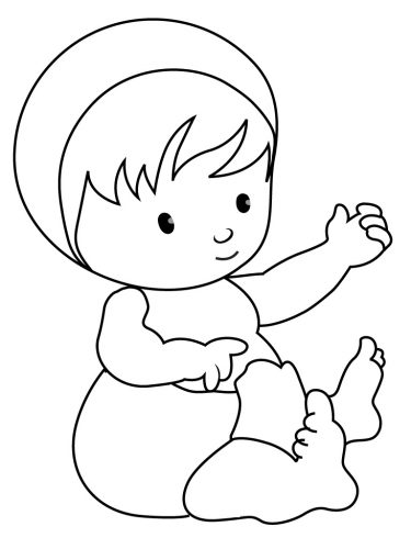 Imagens de bebés para imprimir e colorir 7