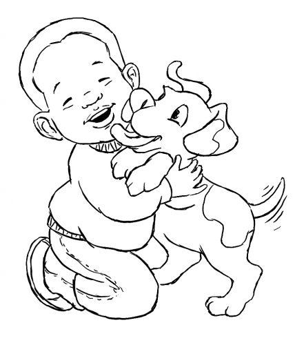Imagens de bebés para imprimir e colorir 8