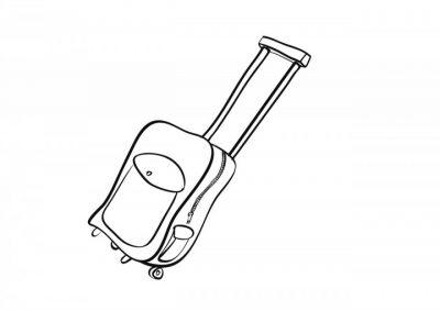 Imagens de malas e mochilas para imprimir e colorir 1