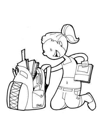 Imagens de malas e mochilas para imprimir e colorir 3