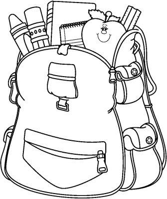 Imagens de malas e mochilas para imprimir e colorir 4