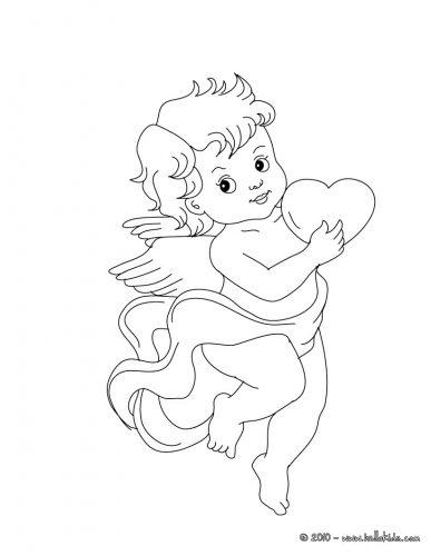 Imagens do Cupido para imprimir e colorir