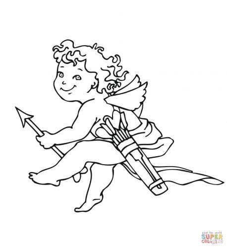 Imagens do Cupido para imprimir e colorir 10