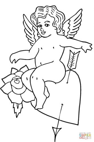 Imagens do Cupido para imprimir e colorir 11