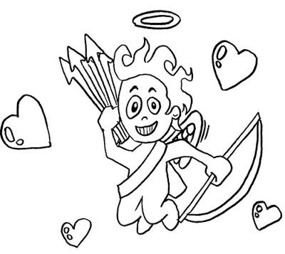 Imagens do Cupido para imprimir e colorir 14