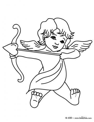 Imagens do Cupido para imprimir e colorir 2