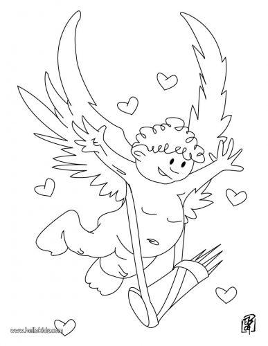 Imagens do Cupido para imprimir e colorir 7