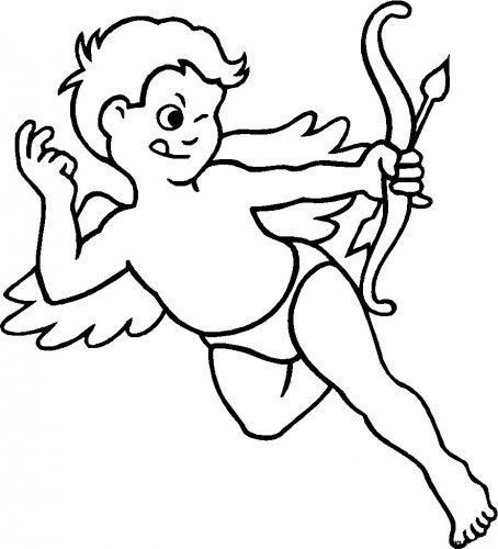 Imagens do Cupido para imprimir e colorir 9
