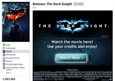 Warner Bros em parceria com o Facebook