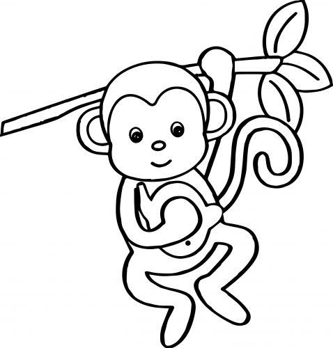 Imagens de macacos e gorilas para imprimir e colorir - 11