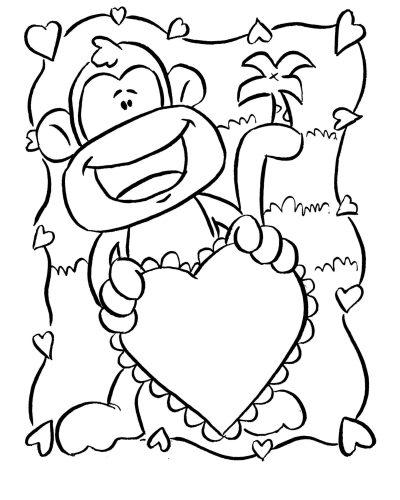 Imagens de macacos e gorilas para imprimir e colorir - 12