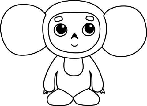 Imagens de macacos e gorilas para imprimir e colorir - 15