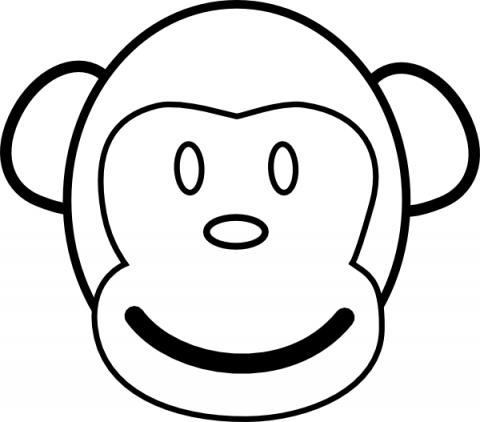 Imagens de macacos e gorilas para imprimir e colorir - 16