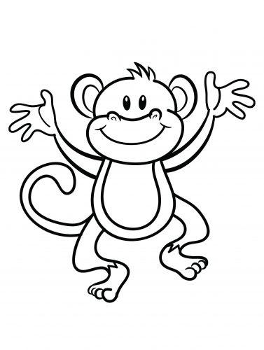 Imagens de macacos e gorilas para imprimir e colorir - 30
