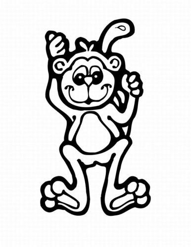 Imagens de macacos e gorilas para imprimir e colorir - 7
