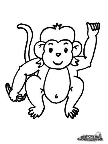 Imagens de macacos e gorilas para imprimir e colorir - 9