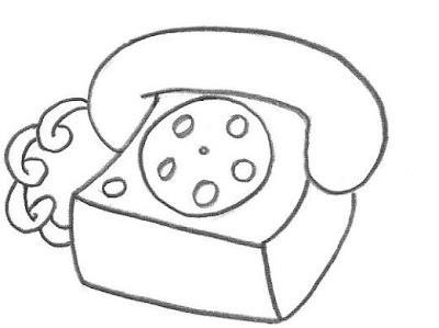 Imagens de telefones antigos para imprimir e colorir 2