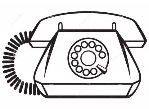 Imagens de telefones antigos para imprimir e colorir 6