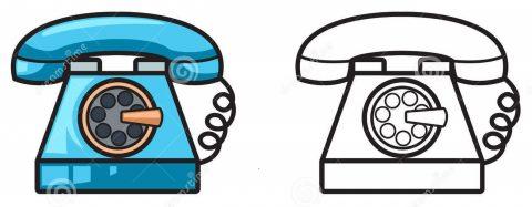 Imagens de telefones antigos para imprimir e colorir 8