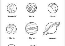 Planetas para colorir