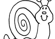 Imagens de caracois para colorir