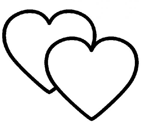 Corações para colorir