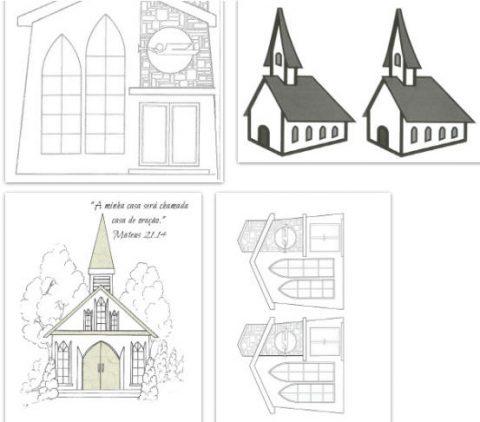 Imagens de igrejas para imprimir e colorir 3