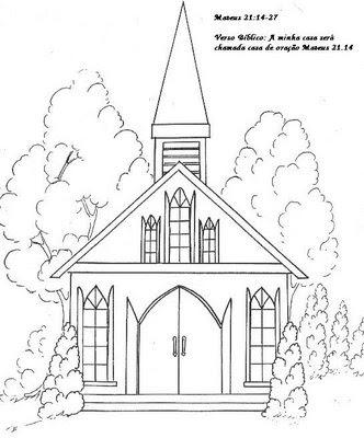Imagens de igrejas para imprimir e colorir 4