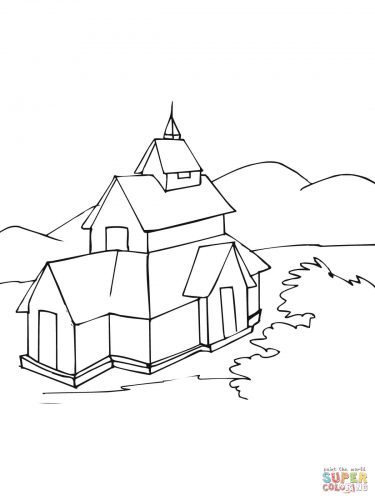 Imagens de igrejas para imprimir e colorir 8