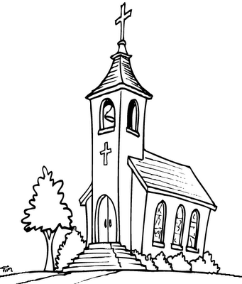 Igrejas para colorir