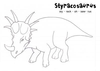 Imagens de dinossauros para imprimir e colorir 9