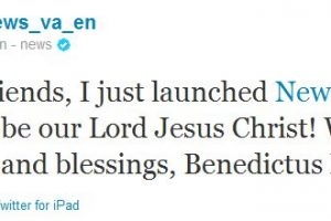 1º twite do Papa Bento XVI