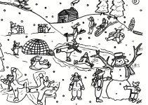 Imagens da neve para imprimir e colorir