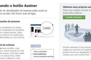 """Facebook adiciona novo botão """"Assinar"""""""