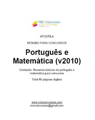 Apostilha de portugus e matemtica