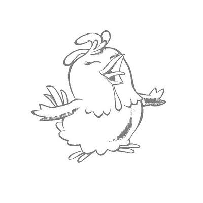 Imagens de galinhas e pintainhos para imprimir e colorir 11