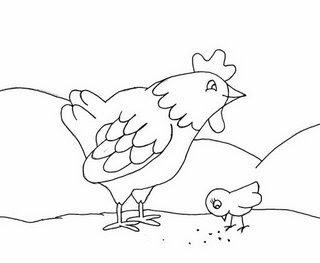 Imagens de galinhas e pintainhos para imprimir e colorir 8