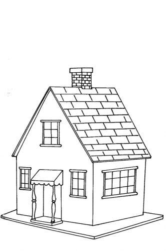 casas para colorir - 1