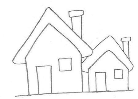 casas para colorir - 2