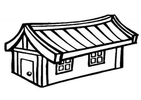 casas para colorir - 5