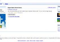 Super mario no Google